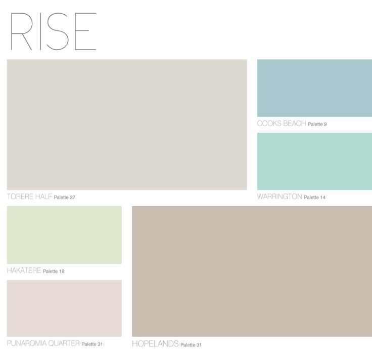 RISE Palette from Dulux Colour Forecast 2013