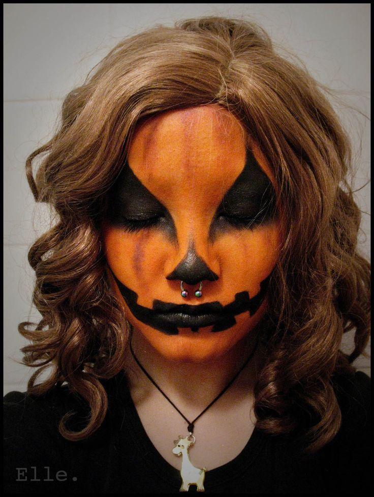 pumpkin jackolantern halloween piercing facepaint