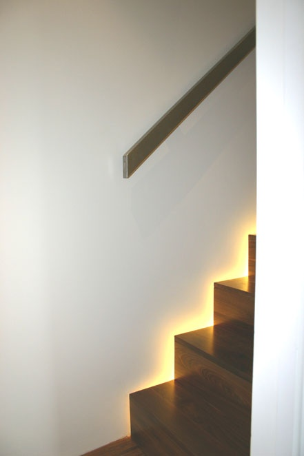 Gorgeous lighting solution for stairs.