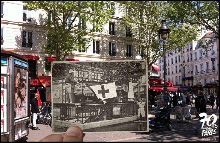 Libération de Paris 1944: des photos de l'époque insérées dans des photos actuelles