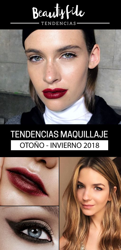 Tendencias de maquillaje otoño-invierno 2018