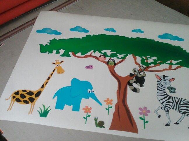#wallart #nursery Wall art decal for kids' room