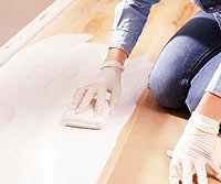 Whitewash Wood - This can be done on any unfinished WOOD furniture; picture frame; floor; etc.