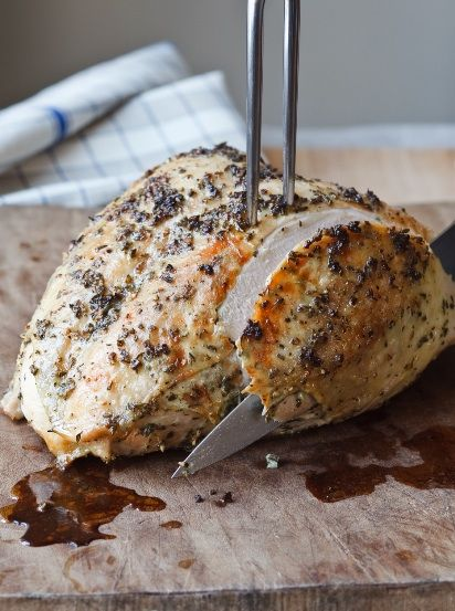 The Barefoot Contessa's Herb-Roasted Turkey Breast Recipe. Going to double it and try it on a whole turkey for Cristmas
