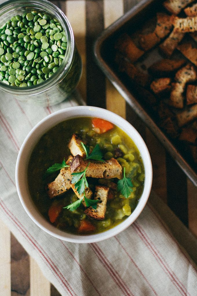 Split Pea Soup, perfect to warm up a chilly day.