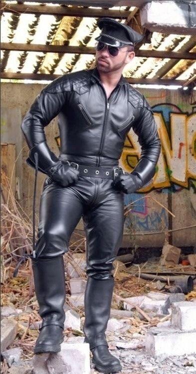 Leather Uniform Men