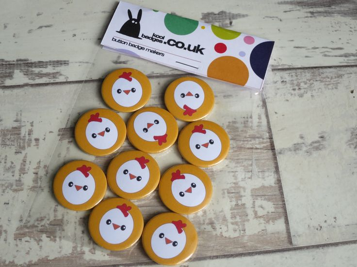 Fun chick badges – these are on their way to an after school club in Devon  www…. – Animal badges