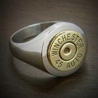 Men's Classic Stainless Steel Bullet Ring