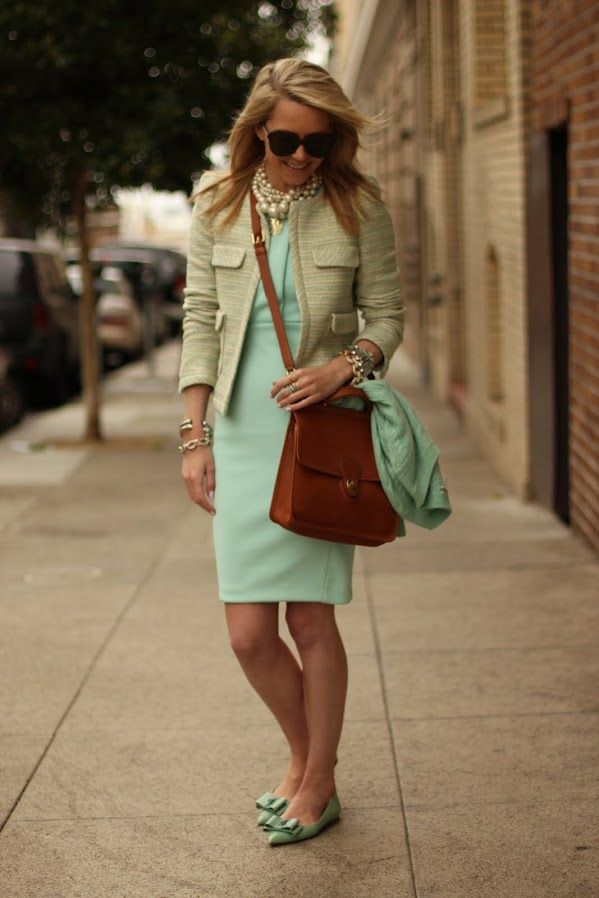 dress: h&m (another cute mint number here and here). shoes: jcrew. jacket: zara. bag: coach 'willis'. sweater: jcrew. necklace: br (old) and max&chloe. sunglasses: karen walker. jewelry: blue ring coach, david yurman, pastel bracelets american eagle (old), jcrew, michele watch, xo jewelmint rings (seen her). nails: butter london 'teddy girl'.