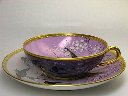 Dresden a lamm swallow cup and saucer xicara e outros for Tazas de te estilo vintage