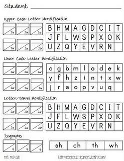 letter assessment | preschool assessments | Pinterest