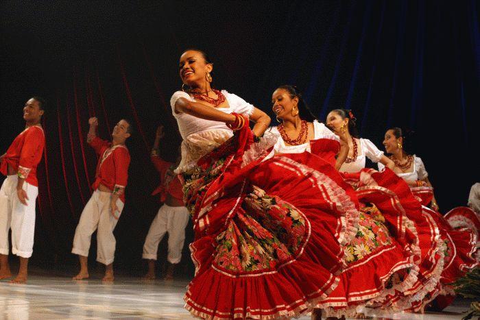 Dança folclórica brasileira.