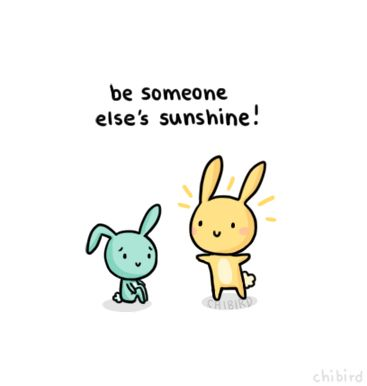 Because I think we could all use a sunshine bunny in our lives. >u