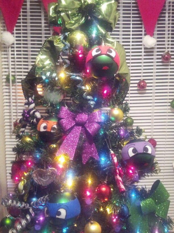 Ninja Turtle Christmas Tree.Tmnt Tree To Do With The Kids Hoilday Decor Christmas