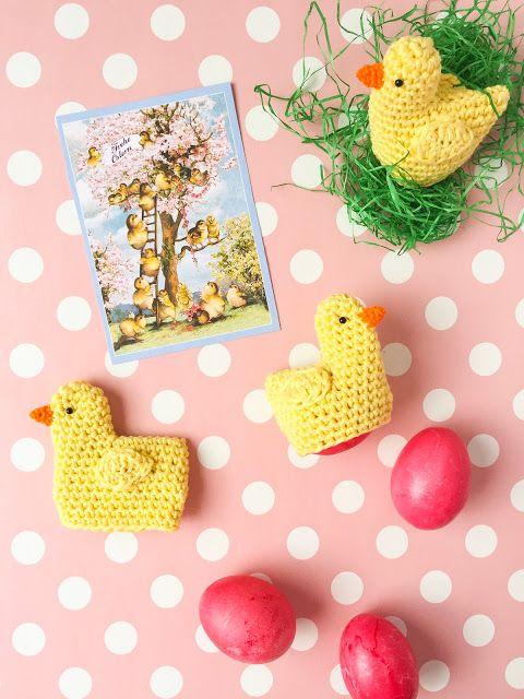 Un guide pour les poussins au crochet comme chauffe-œufs pour Pâques | ♥ Bonbons au sucre  – Amigurumi/ Häkeln