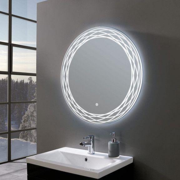 Finesse Ultra Slim Round Led Illuminated Mirror 700mm Led Mirror Bathroom Bathroom Mirror Mirror