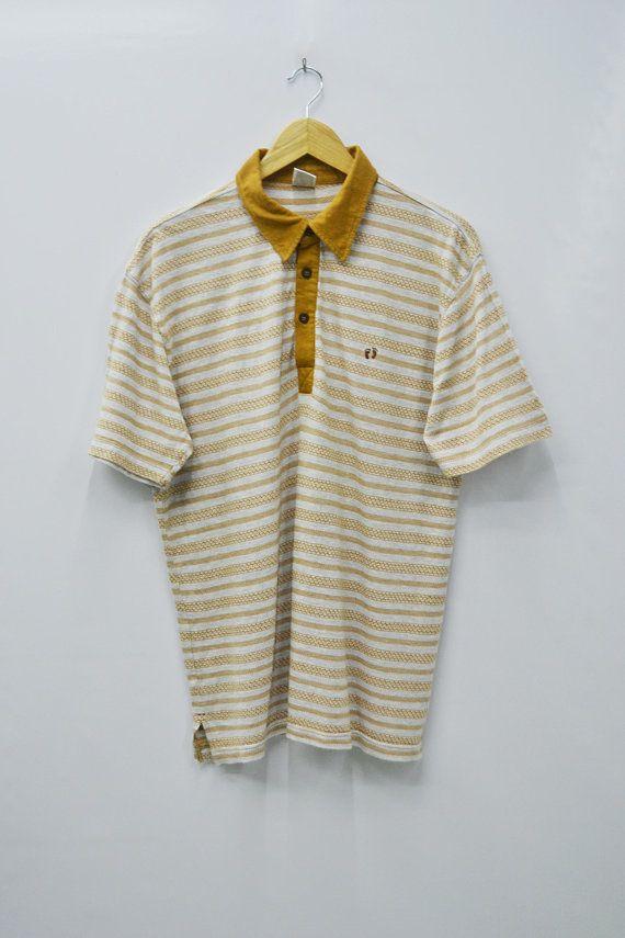 ef5364da Hang Ten Shirt Hang Ten Polo Shirt Vintage Hang Ten Classic Stripes Polo  Shirt Size L