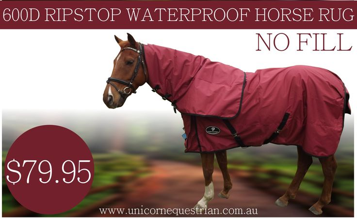 Supreme Burgundy Waterproof Rug With Detachable Neck No Fill Cotton Lined Rainsheet