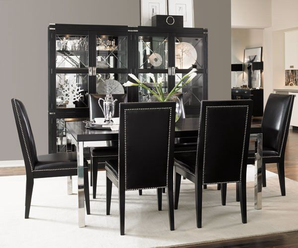 STYLISH HOME: Black And White Interiors. Black Dining RoomsWhite Dining  Room FurnitureBlack ...