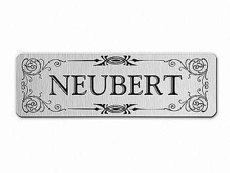 Namensschild für den Briefkasten - silber