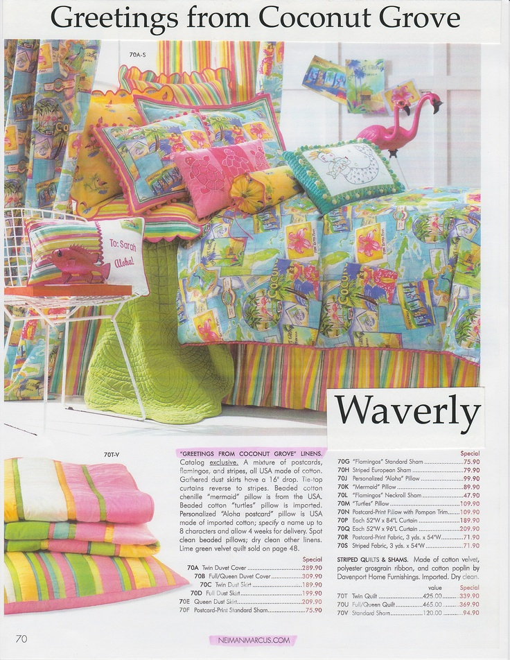 Design for Waverly in Neiman Marcus Catalog