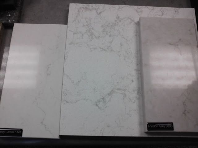 always in a southern state of mind: ramblings on the reno...countertops frosty carrina vs torquay vs london gray