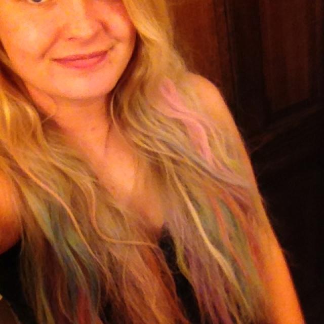 Chalk rainbow hair: Style, Rainbow Hair, Rainbows, Chalk Rainbow