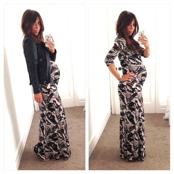 Maternity dress. Great for winter.