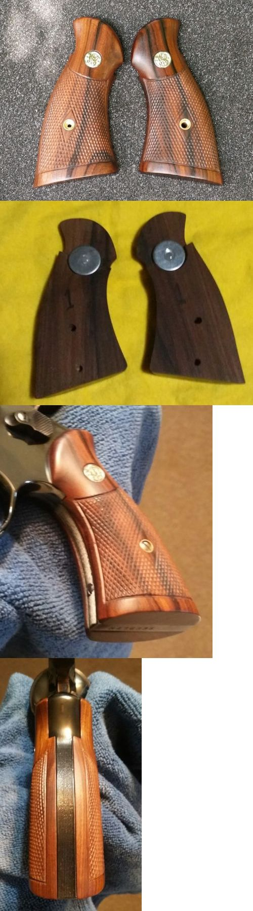 Other Hunting 383: Smith And Wesson N Frame Grips Pre War Checkered Custom Grips -> BUY IT NOW ONLY: $399 on eBay!
