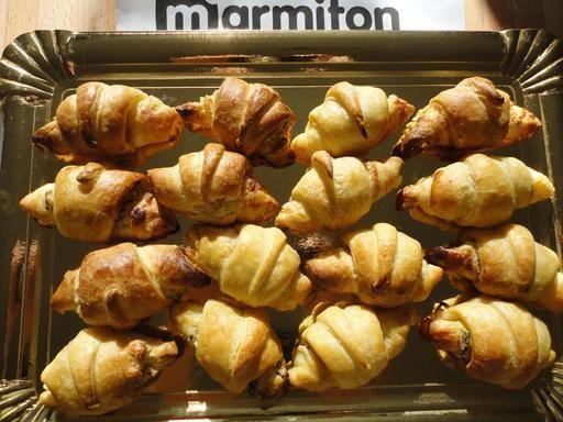 Recette de Croissants fourrés pour l'apéro