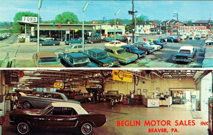 1960's Beglin Motor Sales Inc, Ford Dealership, Beaver