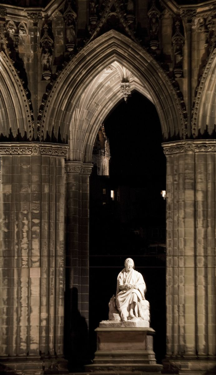 Scott Monument, Edinburgh, Scotland - Lighting Design by KSLD: Natalie Redford, Efi Stragali, Kevan Shaw