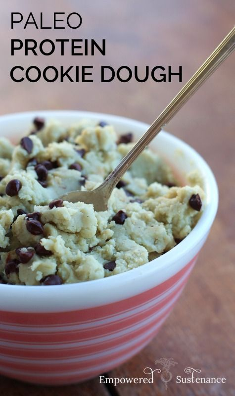 There are 30 (!!) grams of healthy protein packed into this grain-free cookie dough. And there's only 1 Tbs. of sweetener in the recipe!