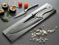 Nested Knife Set.  Looks Cool!