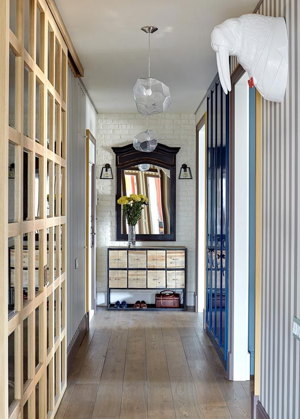 Смелые цвета в интерьере московской квартиры. Дизайнеры Екатерина Федорова и Мария Пилипенко