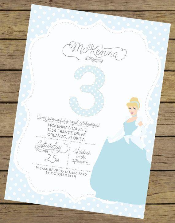 Cinderella Invitation Cinderella Invite by CharlesAlexDesign
