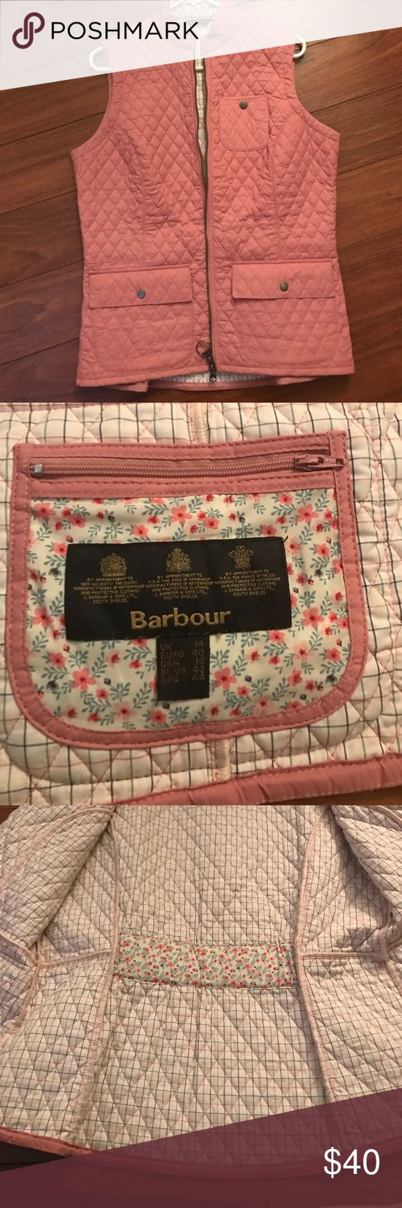 Barbour Vest Light pink quilted vest. Lightly worn.  Great shape Barbour Jackets & Coats Vests
