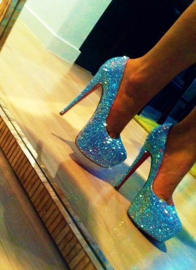 Love!: Sparkly Heels, Wedding Shoes, Sparkly Shoes, Glitter Shoes, Something Blue, High Heels, Christian Louboutin, Glitter Heels, Christianlouboutin