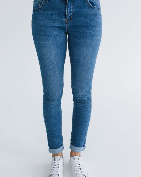 Vintage Roll Up Jeans - Blossom & Glow