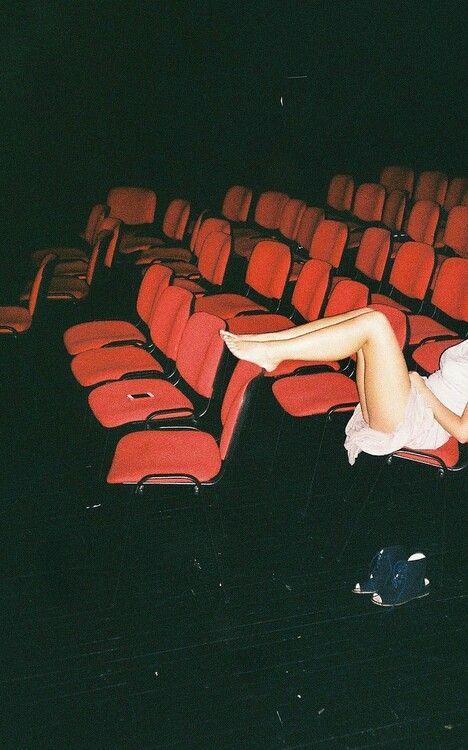 Darkened theater