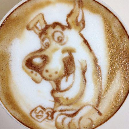 Scooby Doo Latte Art Cool! #LatteArt #CoffeeArt