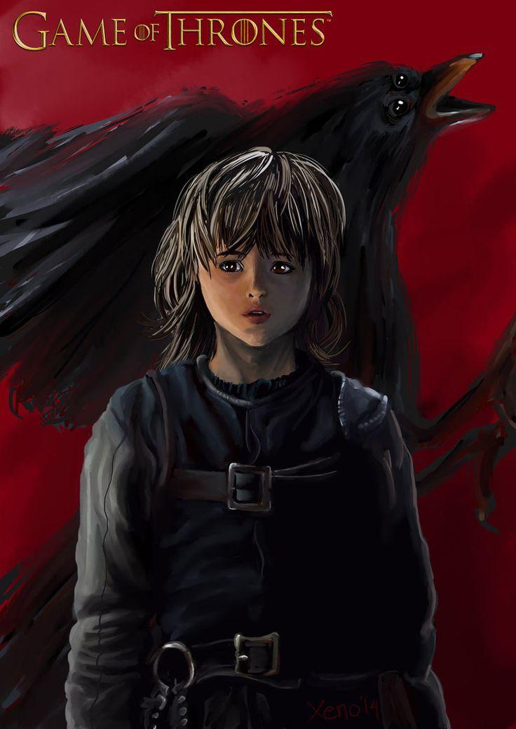 Fan art: Brandon Stark's raven dream (Game of Thrones)