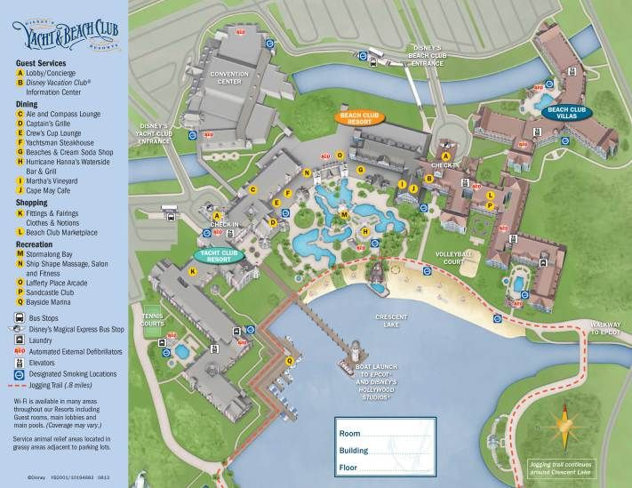 Yacht And Beach Club Resort Map Disney World Maps Pinterest