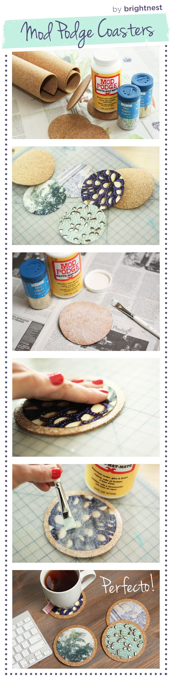 #Upcycle old magazines into a coaster set!
