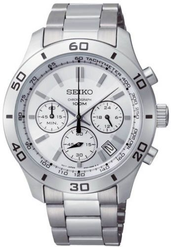 Seiko-Chronograph-Men-039-s-Quartz-Watch-SSB047