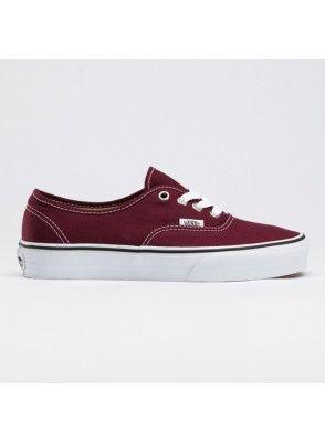Vans Chaussures Bordeaux Authentique Core Classique Canevas Sneakers - Canvas Shoes Online
