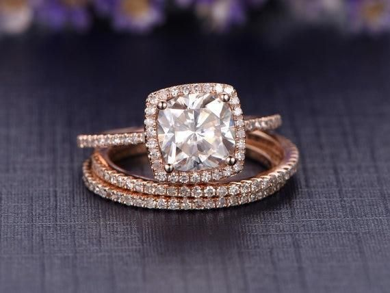 2 CT Diamond Round Cut Solitaire Engagement Wedding Ring 10K Real Rose Gold