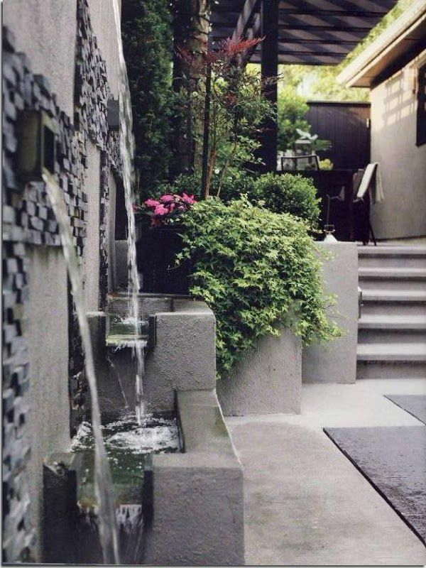 1000 id es sur le th me fontaine murale sur pinterest fontaine de jardin bassin et le jardin. Black Bedroom Furniture Sets. Home Design Ideas