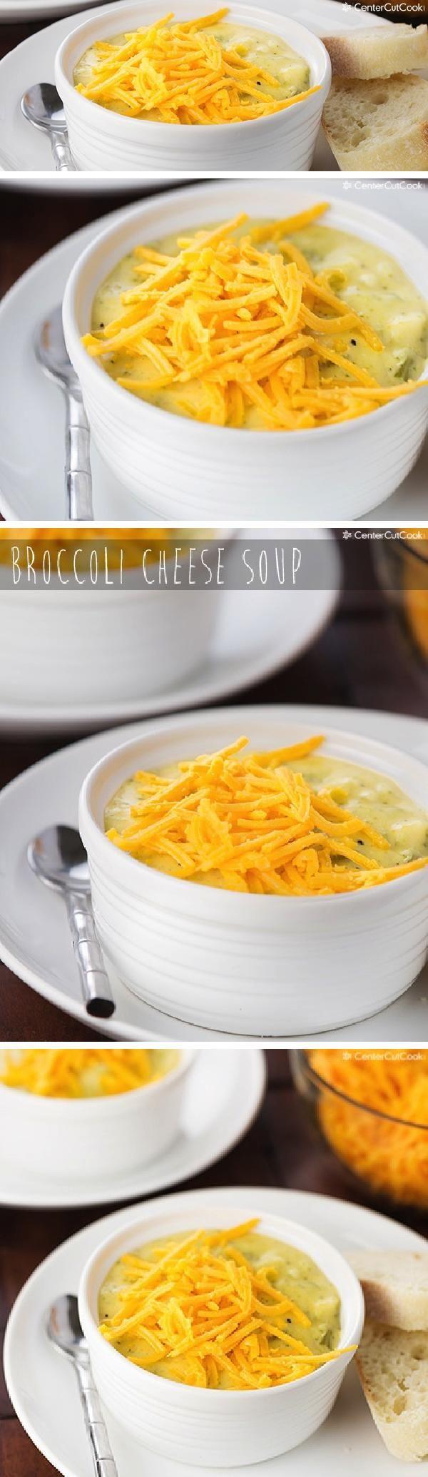 Creamy cheesy BROCCOLI CHEESE SOUP {A Jason's Deli copycat recipe}