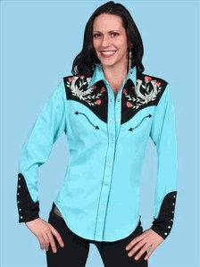 Scully Western Shirt with Horseshoe Embroidery